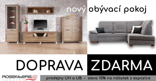 AKCE - Nový obývací pokoj - pro obývací stěny a sedačky doprava ZDARMA