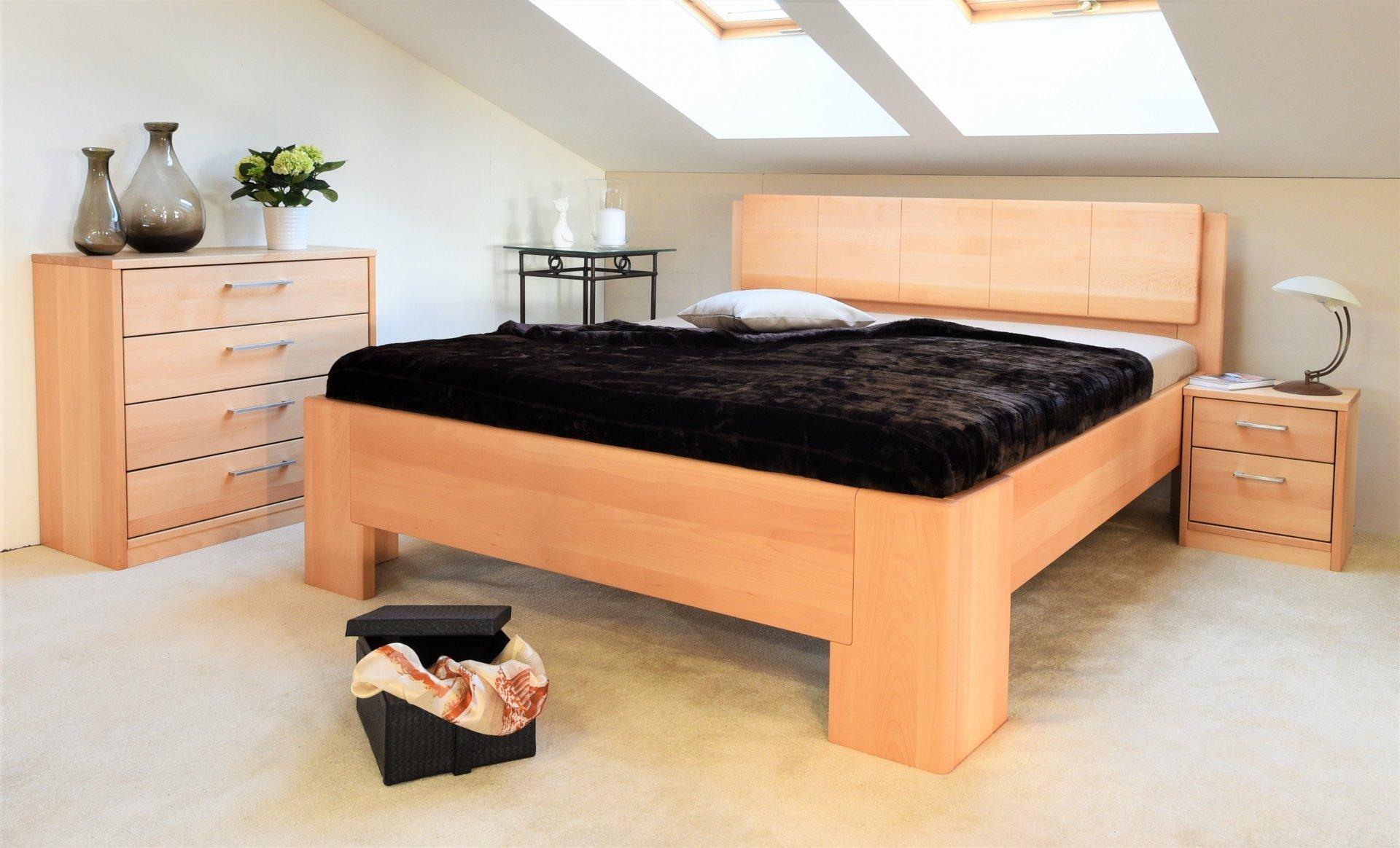 Akce - zvýšené postele z masívního buku ihned !